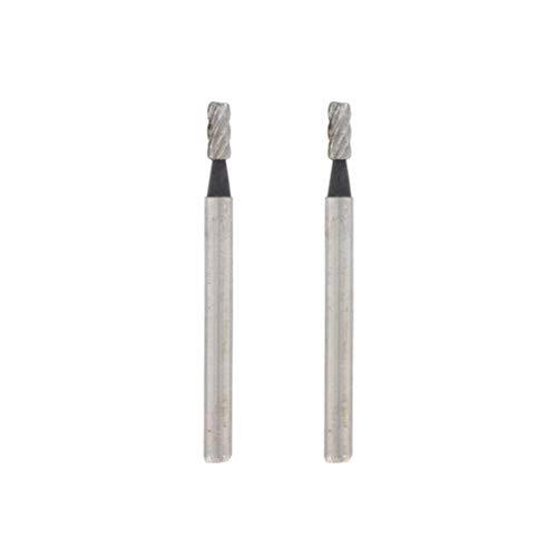 Dremel 194 Hochgeschwindigkeits-Fräser - Zubehörsatz für Multifunktionswerkzeug mit 2 Fräsern Ø2,0mm zum Schnitzen, Gravieren und Fräsen in Holz, Weichmetall, Beton u.v.m.