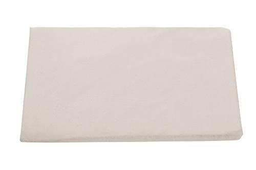 Burrito Blanco Atelier Sábana Bajera de 105 Ajustable Tejido, Suave y Ligero/Sábana Bajera para Cama Individual de 105x190...