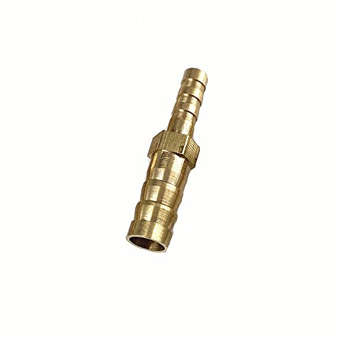 Doamt Zmaoyun-Tubos de latón Ajuste de Tubo de púas de latón Conector de acoplador Reductor Recto 4/5/6/8/10/12/14 / 16mm Manguera Barba, Material de latón Duradero (Color : 8 6mm)