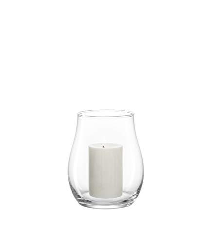 LEONARDO HOME Windlicht Giardino, moderne Laterne, handgefertigtes Unikat aus Glas, In- & Outdoor , H 18 Ø 15-cm , 010252