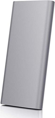 Disco rigido esterno portatile da 2 TB, disco rigido esterno ultra sottile HDD esterno compatibile con PC laptop e Mac (2TB, Gray-A)