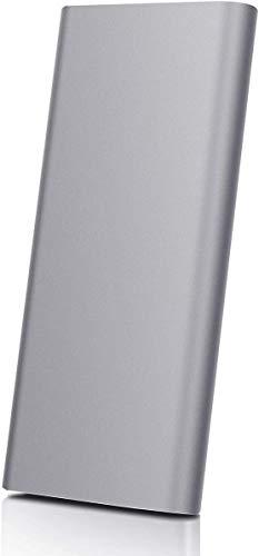 Disco rigido esterno portatile, disco rigido esterno da 2 TB Sottile HDD esterno ultra sottile per PC, laptop e Mac (2TB, Gray-B)