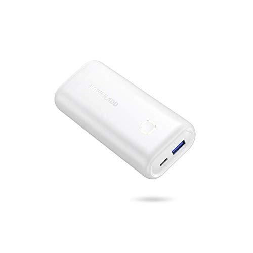 POWERADD EnergyCell Mini Power Bank 10000mAh Cargador Portátil Batería Externa con Salida de 2.4A Carga rápida para iPhone,Samsung,Xiaomi,Huawei,Tablets y más Dispositivos-Blanco