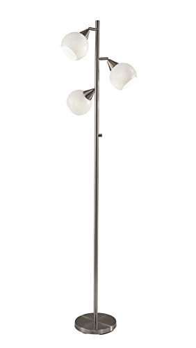 Adesso Home 1533-22 Transitional Three Light Table Lamp in Pwt, Nckl, B/S, Slvr. Finish, 16.00 inches, Brushed Steel