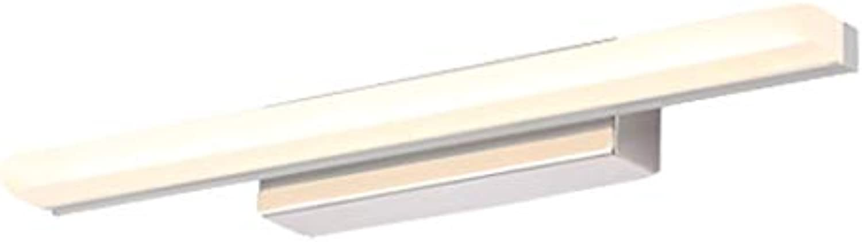 Spiegelleuchten Spiegelfrontleuchte Lampe aus Edelstahl 40.5cn, 50.5cm, 60.5cm, 69.5cm LED-Lichtquelle Weies Licht und warmes Licht (Farbe   Warmes Licht-12W50.5cm)