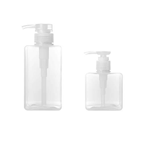 TOPBATHY Lot de 2 flacons de Savon vides Rechargeables pour shampoing émulsion Mousse 250 ML + 450 ML