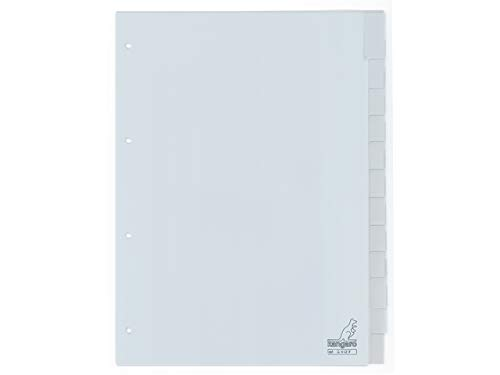 Register Kangaro DIN A4 Fenster PP 120 micron 4r. 12tlg grau