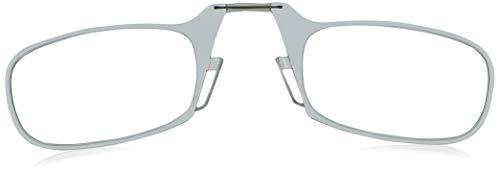 ThinOptics Black Universal Pod with 2.0 Strength Anti-Fog Clear Glasses Round Reading, 55mm, 60mm + 2