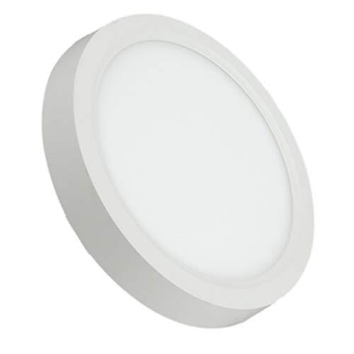 Pack 2x Plafon Led Redondo 12w. Color Blanco Frío (6500K). Diámetro 170mm. A++