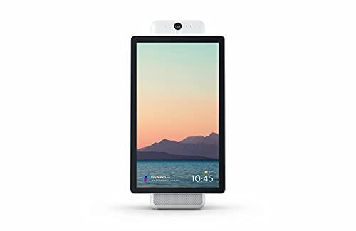 Portale di Facebook. Videochiamate intelligenti con Alexa Built-in Bianco Infradito colorati estivi, con finte perline Portal Plus