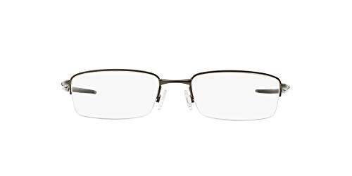 Oakley Men's OX3111 Rhinochaser Metal Rectangular Prescription Eyeglass Frames, Cement/Demo Lens, 52 mm