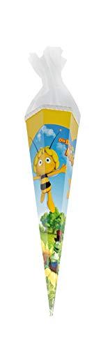 Schultüte 'Die Biene Maja' 50 cm; eckig mit Tüll