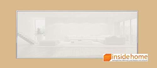 insidehome | Infrarotheizung Glasheizung ELEGANCE | Glas mit 10mm Alurahmen | deutsche Top - Qualität | 210 – 1400 Watt | Farbe: weiss (1400 Watt - 200x80 cm)