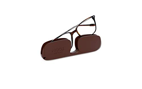 Nooz Optics - Occhiali Luce Blu senza correzione Uomo e donna per Computer, Smartphone, Gaming o Televisione - Forma Rettangolare - Colore Tortoise - Collezione Bao