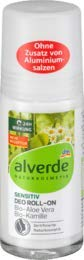 alverde NATURKOSMETIK Deo Roll On Deodorant Sensitiv Aloe Vera, 1 x 50 ml