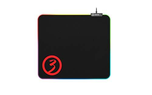 Alfombrilla Gaming Ozone Gaming Level Pro Spectra - Alfombrilla RGB - Tamaño Grande - Controlador de Efectos + 3 modos de iluminación, Base de Goma, Borde y Cable Reforzado, USB, Negro
