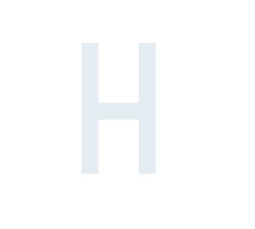 """Preisvergleich Produktbild Buchstaben Aufkleber,  wetterfest,  einzelner Buchstabe """"H"""",  weiß,  5cm (50mm) großgeschrieben"""