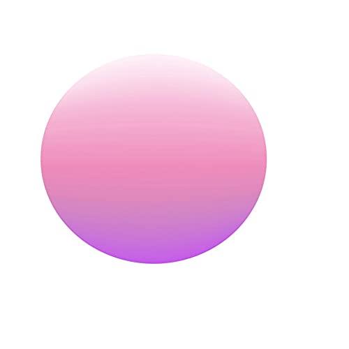 Fansu Manteles de Mesa Redonda de Tela, Impermeable Antimanchas Comedor Color sólido Decorar Manteles para Cocina/Cena/Picnic Decoración (Rosa,130cm)