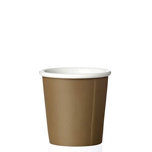 VIVA scandinavia Espressotasse Porzellan Braun Beige 0,08L