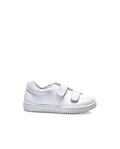 Titanitos Zapato Deportivo colegial niña Piel Lavable Blanco - Cronos C750 (21)