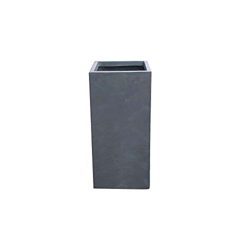 Kante RF0002A-C60121 Lightweight Concrete Modern Rectangle Outdoor Planter, Charcoal