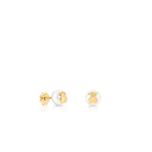 TOUS Pendientes de botón Niña oro amarillo - 611003201