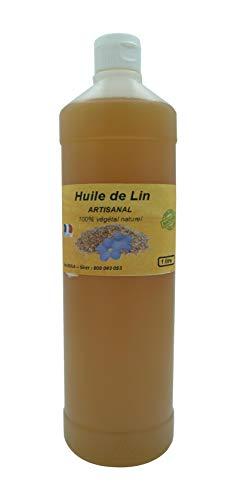 Huile de lin pure, artisanale et Française, première pression à froid 1L