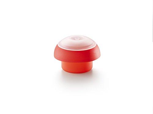 Lékué Cuisson Vapeur Cuit Oeuf Ovo Cylindrique Rouge
