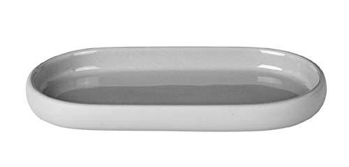 Blomus Sono Tablett, Keramik, Silikon, Micro Chip, H 2,5 cm, B 10 cm, T 19 cm