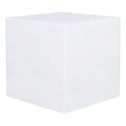 Lumisky 303167 Hedendaagse lichtgevende kubus zonder draad met afstandsbediening en dikke, veelkleurige, permanente energiebesparende leds van polyethyleen, 40 x 40 x 40 cm