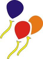 Eulenspiegel 106228 - Selbstklebe Schablone - Luftballons