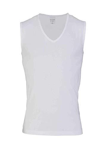 Olymp Level Five Body fit Unterzieh- T-Shirt tiefer V-Ausschnitt Stretch weiß Größe S