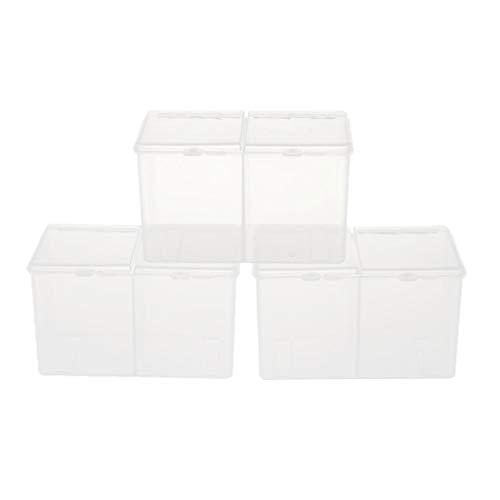 IPOTCH 3X Boîtes de Rangement en Plastique Semi-Transparent pour Manucure Produit de Maquillage Mini Objet - Clair