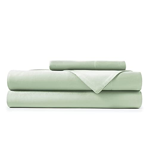 100% Bamboo Bed Sheet Set (Twin, Light Green)