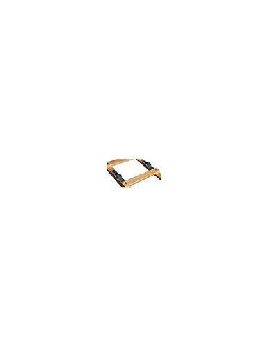 Outifrance 8833520 Echelle de Toit en Bois Pliante 2 x 2,00 m-16 échelons entraxe 25 cm, Beige