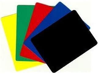 Durable Plastic Poker/blackjack Cut Cards - Set of 5 Different!