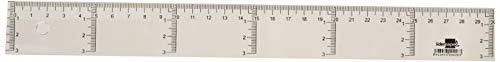 Liderpapel 920426 Règle graduation Verticale Horizontale,Transparente, 30 cm