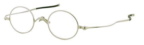 SHIORI 老眼鏡 薄型リーディンググラス SI-05-1+2.50 ラウンドタイプ シルバー