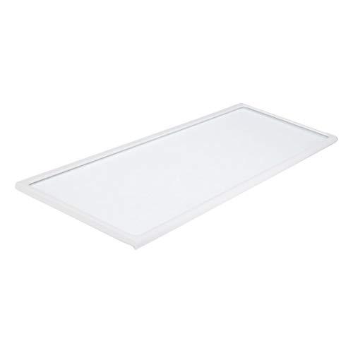 Glasplatte Glastragplatte Tragplatte Platte Abstellplatte Absteller Glasscheibe Scheibe mit Rahmen vorne 420x148mm Kühlschrank ORIGINAL Bosch Siemens 353030 00353030