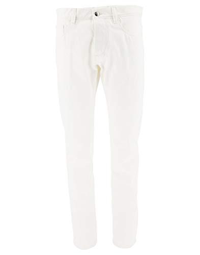 Moncler Luxury Fashion Herren 120090057577002 Weiss Baumwolle Jeans   Jahreszeit Outlet
