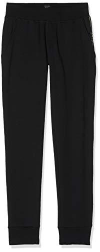 Schiesser Herren Mix & Relax Hose lang Bündchen Schlafanzughose, Schwarz (Schwarz 000), Large (Herstellergröße: 052)