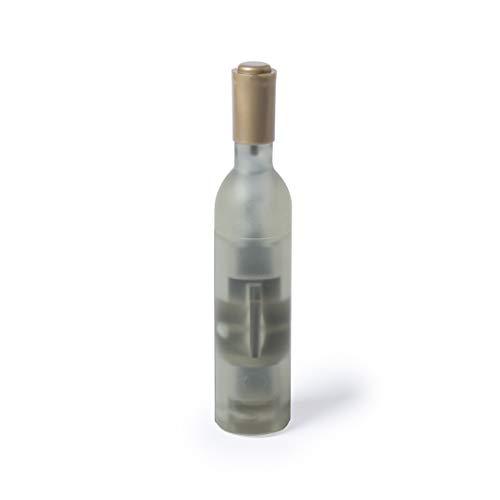 Pack de 20 sacacorchos magnético con forma de botella de vino. Con cuerpo en original acabado translúcido, disponible en 3 colores diferentes (Blanco)