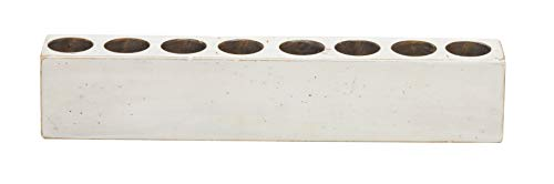 Luxury Living 8-Hole Wooden Sugar Mold Candle Holder in White Distressed