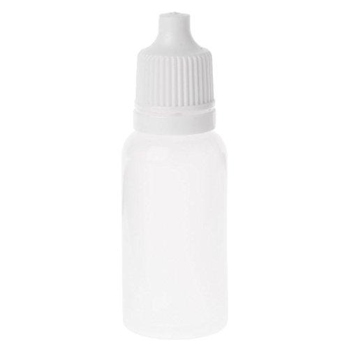 Rtengtunn Flacon Compte-Gouttes Compressible, 5-100ml Contenant Compte-Gouttes Liquide en Plastique Vide pour Les Yeux - 15ml