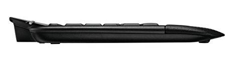Logitech MK710 Kabelloses Tastatur-Maus-Set, 2.4 GHz Verbindung via Unifying USB-Empfänger, 3-Jahre Batterielaufzeit, LCD-Batterieanzeige, Handballenauflage, PC/Laptop, Belgisches AZERTY-Layout