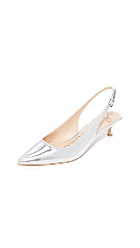 Sam Edelman Women's Ludlow Pump, Soft Silver/Metallic Leather, 8.5 M US