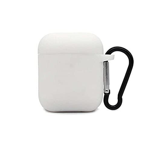 Capa Silicone Flexível Colorida Anti Quedas Compatível AirPods 1 2 / Fone de Ouvido i11 i12 TWS (Branco)