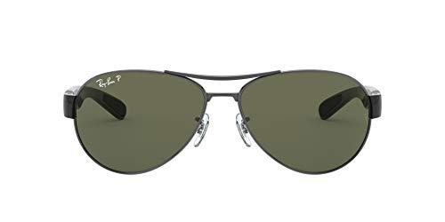 Ray-Ban Damen Sonnenbrille RB3509, Gr. 63 mm, Gunmetal/grün polarized