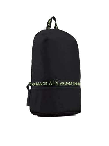 ARMANI EXCHANGE Zaino in Tela Black/Lime 99120, Taglia Unica