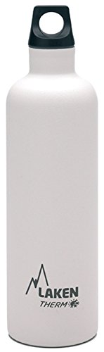 Laken Futura Botella Térmica de Acero Inoxidable 18/8 y Aislamiento de Vacío con Doble Pared, Blanco, 750 ml
